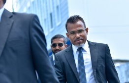 Attorney General Ibrahim Riffath. He denied all corruption claims against him. PHOTO: HUSSAIN WAHEED / MIHAARU