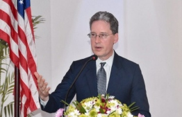 Robert Hilton, the Chargés d'affaires ad interim at the US Embassy in Colombo, Sri Lanka.