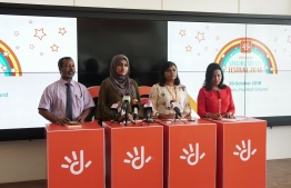 Dhiraagu holds press conference announcing the Special Sports Festival to be held October 29, 2018. PHOTO/DHIRAAGU