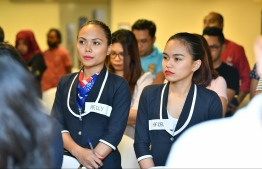 During the Gender Awareness and Development Program (GAD) hosted by the Philippine Embassy in Bangladesh. PHOTO: HUSSAIN WAHEED/MIHAARU
