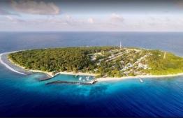 Aerial view of Lhaimagu in Shaviyani Atoll.
