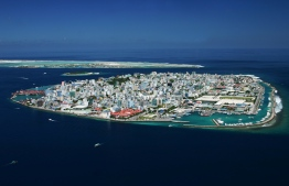 An aerial view of Male City, the capital island of Maldives. PHOTO: SHAHEE ILYAS