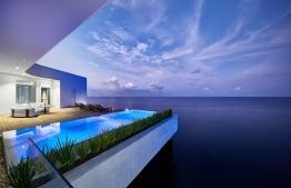 The deck and infinity pool on the upper level of The Muraka. PHOTO/CONRAD MALDIVES RANGALI