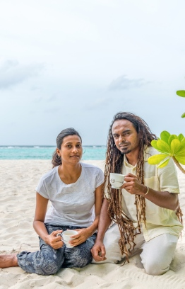Fathimath Thanzeela Naeem (Thanzy) and Hassan Ahmed (Beybe) of Save the Beach. PHOTO: ZAFAR NAEEM / THE EDITION
