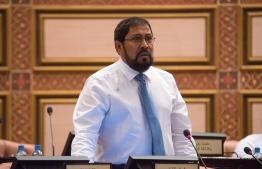 Maamigili MP Qasim Ibrahim speaks at a parliament sitting. Kaashidhoo MP Abdulla Jabir has sued Qasim over failing to repay a loan of MVR 6 million PHOTO: PARLIAMENT