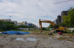 Land given to Sealife Global to erect 3000 housing units in reclaimed suburb Hulhumale'. PHOTO: MIHAARU.
