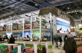 Maldives exhibition at WTM 2018. PHOTO: VISIT MALDIVES
