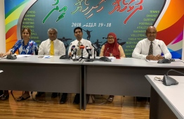 Press conference announcing the sports festival 'Dhulhaheyo Hashiheyo Eid'. PHOTO: HASSAN MOHAMED/MIHAARU NEWS