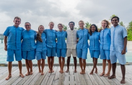 The marine team at Six Senses Laamu, Maldives Underwater Initiative | PHOTO: SIX SENSES LAAMU