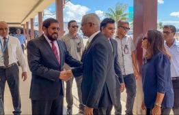 President Ibrahim Mohamed Solih and Qasim Ibrahim, the founder of Villa Group. PHOTO: JUMHOOREE PARTY