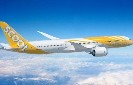 An aircraft of Scoot, the Singaporean low-cost airline owned by Singapore Airlines. PHOTO/SCOOT