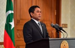 President Abdulla Yameen Abdul Gayoom. PHOTO/PRESIDENT'S OFFICE