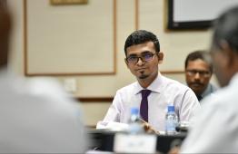 Minister of Finance and Treasury, Ahmed Munawar. PHOTO: HUSSAIN WAHEED/MIHAARU