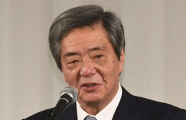 Liberal Democratic Party lawmaker Wataru Takeshita speaks at a gathering of the party's Nukaga faction on March 14, 2018. FILE PHOTO/THE MAINICHI