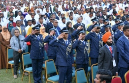 November 17, 2018, Male City: Attendees at President Ibrahim Mohamed Solih's inauguration at the National Stadium. PHOTO: NISHAN ALI/MIHAARU