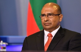 The recently resigned Abdulla Munaz, of the Presidential Commission on investigation of murder and enforced disappearances. PHOTO: NISHAN ALI/MIHAARU