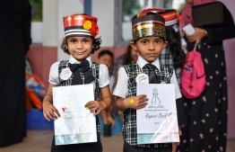 Pre-school students of Ahmadiyya International School. PHOTO: NISHATH ALI/MIHAARU