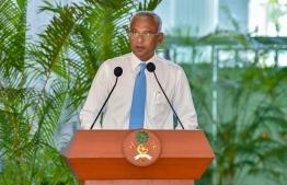 President Ibrahim Mohamed Solih. PHOTO: PRESIDENT'S OFFICE