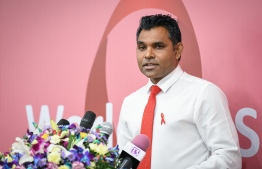 Vice President Faisal Naseem speaks at ceremony held to mark World Aids Day 2018. PHOTO/MIHAARU