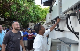 LUX* South Ari Atoll officially unveils the property's newly installed solar powered system. PHOTO: LUX*