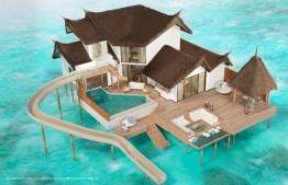 Jumeirah Vittaveli resort unveils longest water slide in Maldives. PHOTO: JUMEIRAH