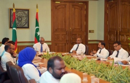 Cabinet discussions took place regarding the possibility of signing a free trade agreement between Maldives and the UK, EU. PHOTO:MIHAARU