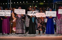 A rally by PPM denying the validity of the results of the September 23 presidential election. PHOTO: MIHAARU