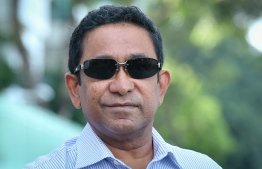 Former President Abdulla Yameen Abdul Gayoom who is charged with money laundering. He was scheduled to be sentenced on November 5. PHOTO: HUSSAIN WAHEED/ MIHAARU