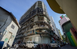An image of a construction site in capital City Male'. PHOTO: AHMED NISHAATH / MIHAARU