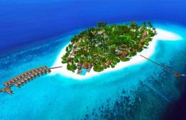 Aerial view of Baglioni Maldives resort being developed at Dh.Maagau. PHOTO/BAGLIONI MALDIVES