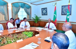 President Ibrahim Mohamed Solih at a Cabinet meeting. PHOTO: PRESIDENT'S OFFICE