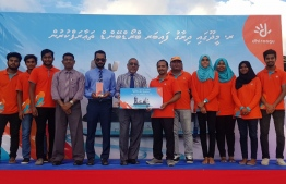Telecom giant Dhiraagu launches Fiber Broadband in Meedhoo, Raa Atoll. PHOTO: DHIRAAGU