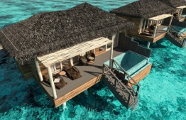 An overwater villa of You and Me Maldives by Cocoon. Five Maldivians were taken under Police custody for travelling from the resort to Alifushi, Raa Atoll. PHOTO/COCOON