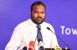 Minister of Tourism Ali Waheed revealed a 16.6 percent increase in tourist arrivals by the end of August 2019. PHOTO: AHMED NISHAATH / MIHAARU