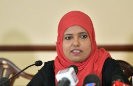 Minister of Gender, Family and Social Services Shidhatha Shareef. PHOTO: HUSSAIN WAHEED/MIHAARU