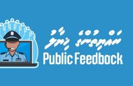The online public feedback platform by Maldives Poice Service. PHOTO: MALDIVES POLICE SERVICE