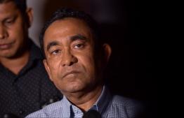 presdent abdulla yameen press