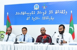 Press Conference held by the Department of Judicial Administration. PHOTO: AHMED NISHAATH/ MIHAARU