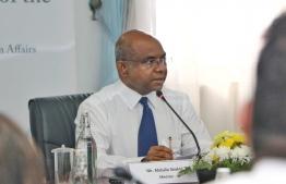 Minister of Foreign Affairs, Abdulla Shahid. PHOTO: HUSSAIN WAHEED/MIHAARU