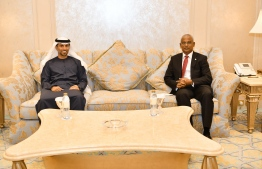 President Ibrahim Mohamed Solih visits United Arab Emirates' Minister of Energy. PHOTO: MINISTRY OF FOREIGN AFFAIRS
