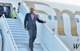 President Ibrahim Mohamed Solih returns to Maldives. PHOTO: PRESIDENT'S OFFICE