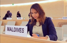 The delegation of Maldives during the 32nd Session of the Universal Periodic Review (UPR) in Geneva. PHOTO/FOREIGN MINISTRY