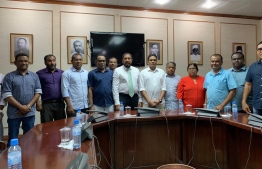Parliament speaker meeting with members of PPM parliamentary group. PHOTO: TWITTER