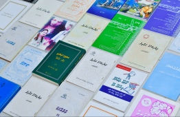 Books on Dhivehi literature and language. PHOTO: HUSSAIN WAHEED / THE EDITION