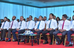 Leading members of PPM and PNC during PNC's national congress gathering. PHOTO: NISHAN ALI / MIHAARU