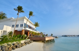 The recently opened LUX* North Male resort. PHOTO: HUSSAIN WAHEED/MIHAARU