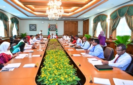 A cabinet meeting in progress. PHOTO: PRESIDENTS OFFICE