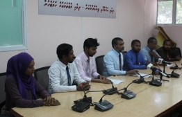 Maldives Media Council at a press conference held on February 2019. PHOTO: MMC