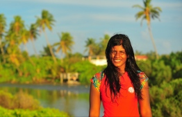 "Dhafeena ""Dhafy"" Hassan Ibrahim of the Stand Up for Our Seas team. PHOTO/STAND UP FOR OUR SEAS"