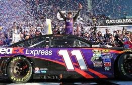 Denny Hamlin wins 61st Daytona 500. PHOTO:  ATHLON SPORTS
